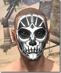 Spoked Skull Face Tattoo Male Front