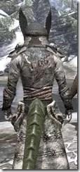 Winterborn Shaman's Costume - Argonian Male Close Rear