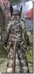Winterborn Shaman's Costume - Khajiit Female Close Rear