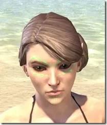 Bright-Throat Algae Face Tattoo Female Front