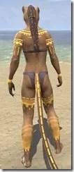Bright-Throat Yolk Body Tattoo Khajiit Female Rear