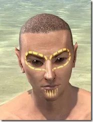 Bright-Throat Yolk Face Tattoo Male Front