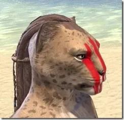 Dead-Water Blood Face Tattoos Khajiit Female Right