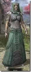 Pyandonean Homespun - Khajiit Female Robe Front