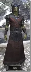 Coldsnap Light - Argonian Male Robe Front