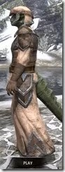 Dark Elf Homespun - Argonian Male Robe Side