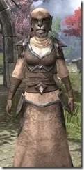Dark Elf Homespun - Khajiit Female Robe Close Front
