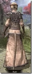 Dark Elf Homespun - Khajiit Female Robe Rear