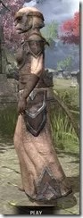 Dark Elf Homespun - Khajiit Female Robe Side