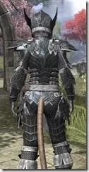 Ebony Iron - Khajiit Female Close Rear