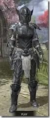 Ebony Iron - Khajiit Female Front