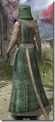 Imperial Homespun - Khajiit Female Robe Rear