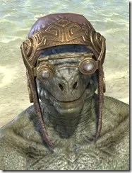 Imperial Mananaut Cap & Goggles - Argonian Male Front