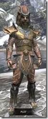 Khajiit Dwarven - Argonian Male Front
