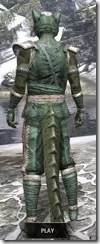 Khajiit Homespun - Argonian Male Shirt Rear