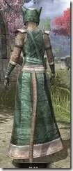 Khajiit Homespun - Khajiit Female Robe Rear
