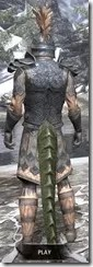 Order of the Hour Iron - Argonian Male Rear