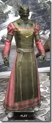 Bardic Tavern Singer's Dress Argonian Male Front