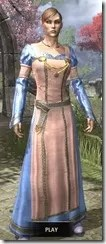 Bardic Tavern Singer's Dress Dyed Front