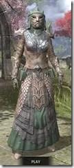 Fanged Worm Heavy - Khajiit Female Front