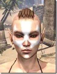 Ghost Goblin Face War Paint Female Front