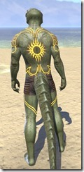 Meridian Sunburst Body Tattoos Argonian Male Rear