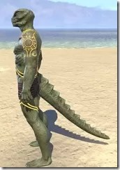 Meridian Sunburst Body Tattoos Argonian Male Side