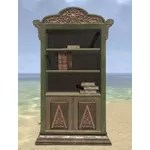 Elsweyr Bookshelf, Elegant Wooden Full