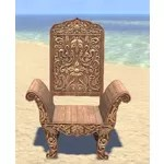 Elsweyr Armchair, Elegant Wooden