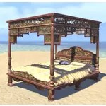 Elsweyr Bed, Yellow Four-Poster