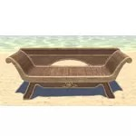 Elsweyr Couch, Wooden