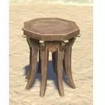 Elsweyr Nightstand, Octagonal Wooden