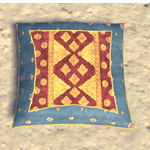 Elsweyr Pillow, Gold-Ruby Throw