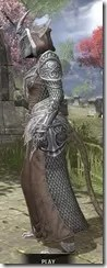 Meridian Homespun - Khajiit Female Robe Side