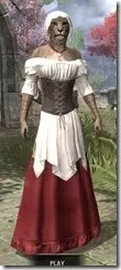Tavern Maid - Khajiit Female Front
