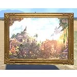 Elsweyr Dome Architecture Painting, Gold