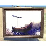 Painting of Nord Ship, Wood