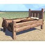 Solitude Bed, Rustic Bearskin Single