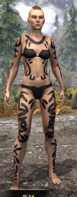 Forsaken Sacrifice Body Markings - Female Front