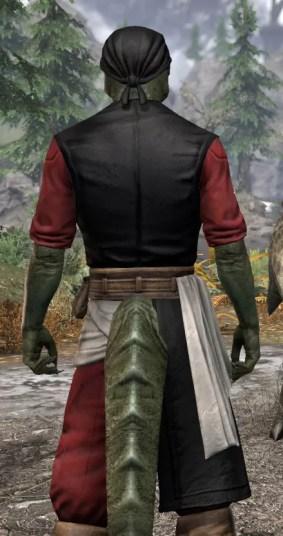 Innkeeper - Argonian Male Close Rear