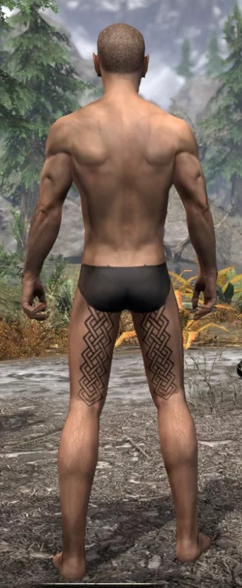 Karthwatch Guardian Body Tattoo - Male Rear