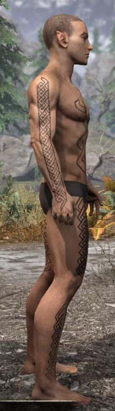 Karthwatch Guardian Body Tattoo - Male Right