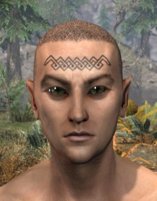 Karthwatch Guardian Face Tattoo - Male Front