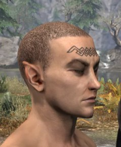 Karthwatch Guardian Face Tattoo - Male Side
