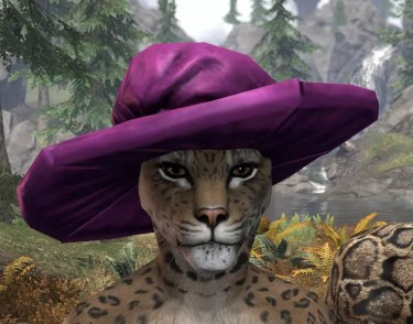 Spirited Soubrette Round Cap - Khajiit Female Front