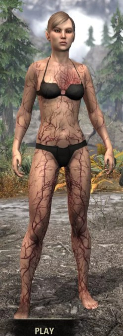 Thrall's Arterial Map Body Marks - Female Front