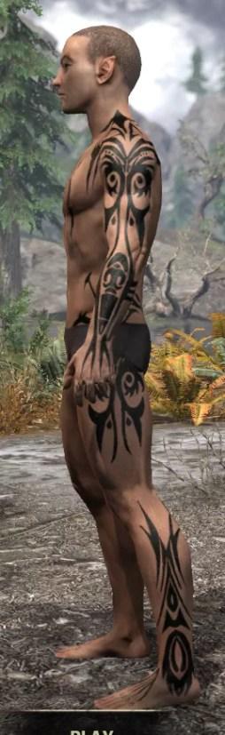 Umbral Snarl Body Markings - Male Side