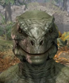 Umbral Snarl Face Markings - Argonian Male Front