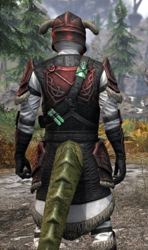 Hazardous Alchemy Heavy - Argonian Male Close Rear