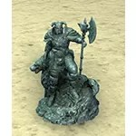 Statuette: Wolf and Warrior